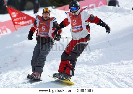 Snowboarder\'S On Race
