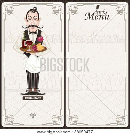 Drinks menu with waiter