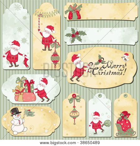 Set of holidays vector cards with place for your text