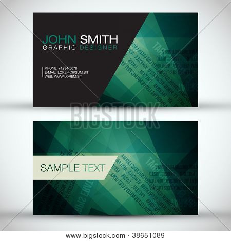Green Modern Business-Card Set | EPS10 Vector Design