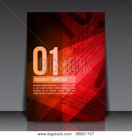 Abstract Red Rusty Newspaper Flyer Template | EPS10 Vector Background