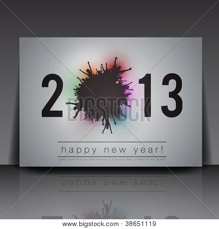 2013 Año de nuevo Vector plantilla Flyer | Diseño EPS10 editable