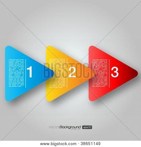 Próximo passo caixas de seta | EPS10 Vector Design
