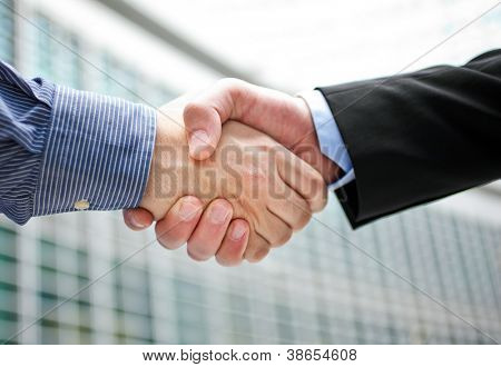 Handshake in the city
