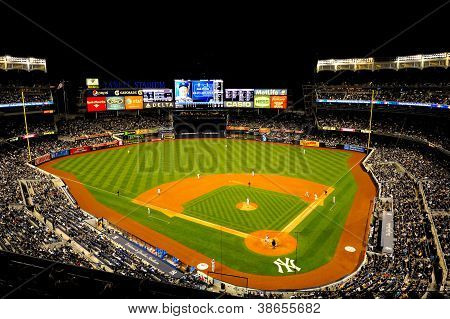 Yankee Stadium by night