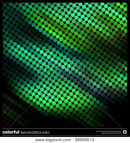 Abstract Motion Green Background