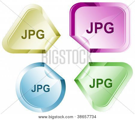 Jpg. Stickers. Raster illustration. Vector version is in my portfolio.