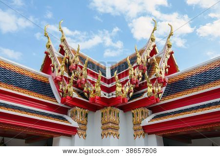 Thai style roof