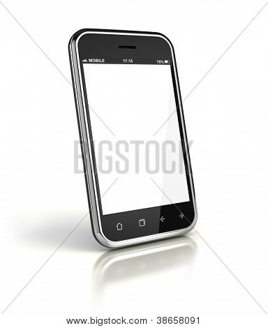 Mobile phone with blank screen