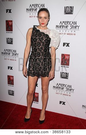 """LOS ANGELES - OCT 13:  Chloe Sevigny arrives at the """"American Horror Story: Asylum"""" Premiere Screening at Paramount Theater on October 13, 2012 in Los Angeles, CA"""
