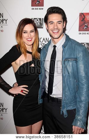 LOS ANGELES - OCT 13:  Rumer Willis, Jayson Blair arrives at the