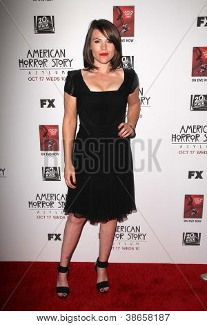 "LOS ANGELES - OCT 13:  Clea DuVall arrives at the ""American Horror Story: Asylum"" Premiere Screening at Paramount Theater on October 13, 2012 in Los Angeles, CA"