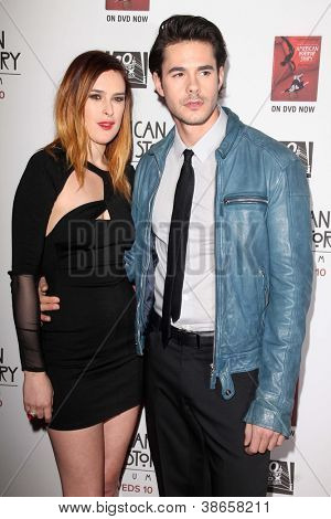 "LOS ANGELES - OCT 13:  Rumer Willis, Jayson Blair arrives at the ""American Horror Story: Asylum"" Premiere Screening at Paramount Theater on October 13, 2012 in Los Angeles, CA"