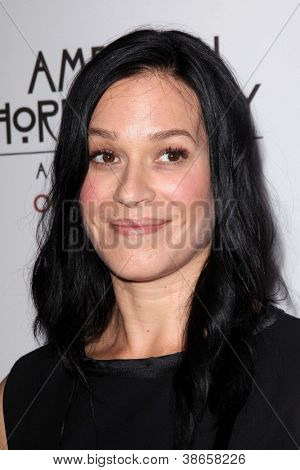 """LOS ANGELES - OCT 13:  Franka Potente arrives at the """"American Horror Story: Asylum"""" Premiere Screening at Paramount Theater on October 13, 2012 in Los Angeles, CA"""