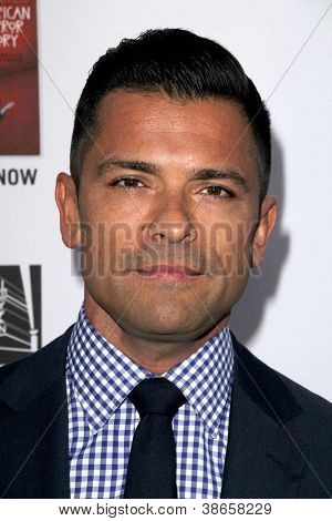 "LOS ANGELES - OCT 13:  Mark Consuelos arrives at the ""American Horror Story: Asylum"" Premiere Screening at Paramount Theater on October 13, 2012 in Los Angeles, CA"