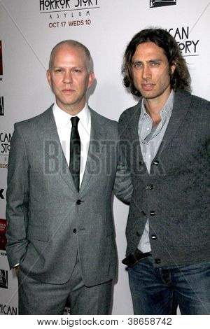 "LOS ANGELES - OCT 13:  Ryan Murphy, Brad Flachuk arrives at the ""American Horror Story: Asylum"" Premiere Screening at Paramount Theater on October 13, 2012 in Los Angeles, CA"