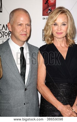 "LOS ANGELES - OCT 13:  Ryan Murphy, Jessica Lange arrives at the ""American Horror Story: Asylum"" Premiere Screening at Paramount Theater on October 13, 2012 in Los Angeles, CA"