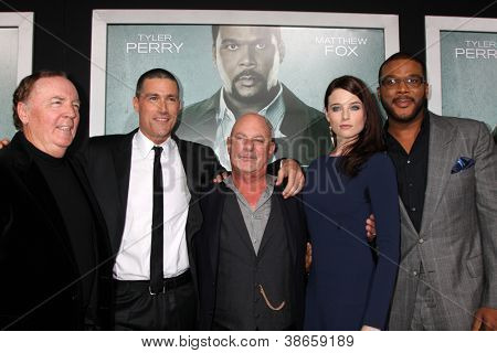 "LOS ANGELES - OCT 15:  James Patterson, Matthew Fox, Rob Cohen, Rachel Nichols, Tyler Perry arrives at the ""Alex Cross"" Premiere at ArcLight Cinemas  on October 15, 2012 in Los Angeles, CA"