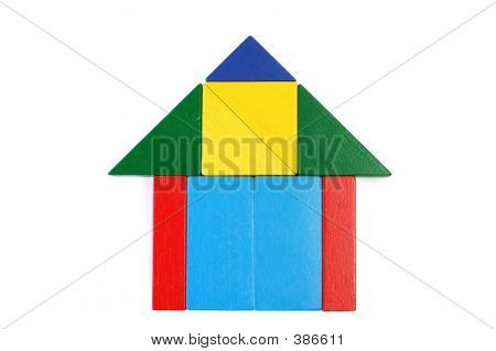 Baby Blocks Figure - House