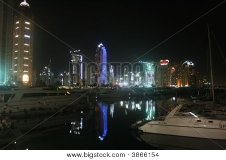 Dubai Marina Reflections