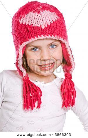 hübsch junge Kind in rosa zimowa