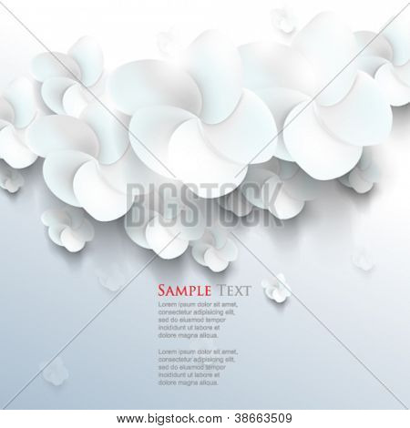 eps10 vector white sakura flower elements background