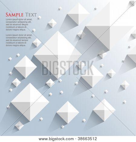 Eps10 vector vista superior pirámide elementos fondo