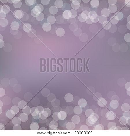 Purple Bokeh Background With Bokeh, Vector Illustration