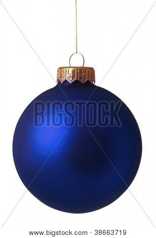 Christmas bauble isolated on white background