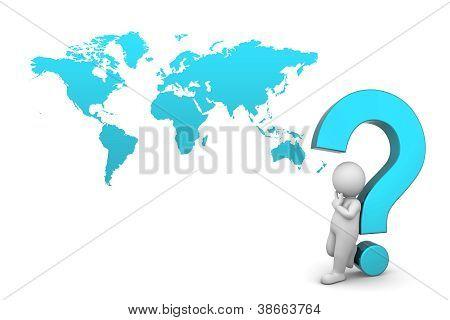 3d man thinking