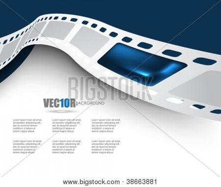 eps10 vector film reel background design