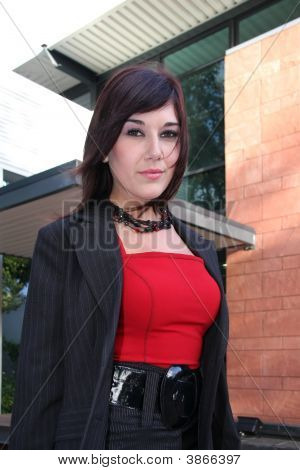 Attractive Businesswoman Outdoors