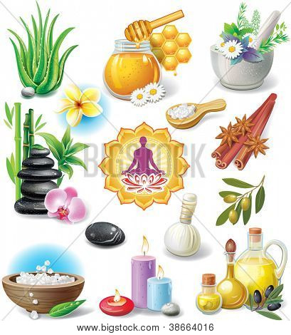 Set of spa treatment symbols