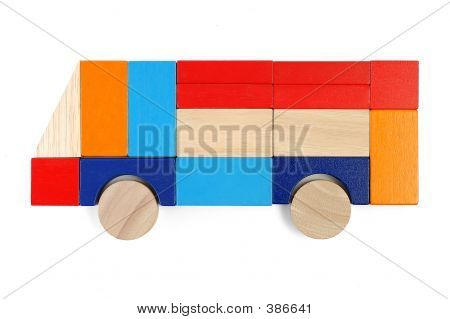 Baby Blocks Figure - Bus