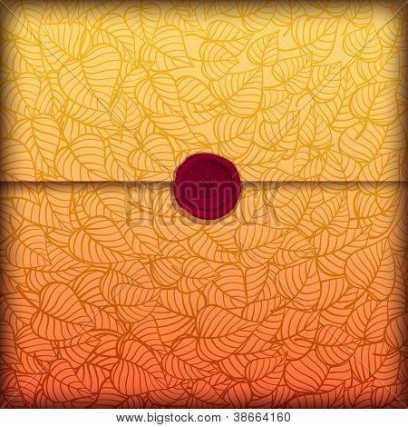 Autumn leaves letter made of fancy paper, vector eps10 illustration