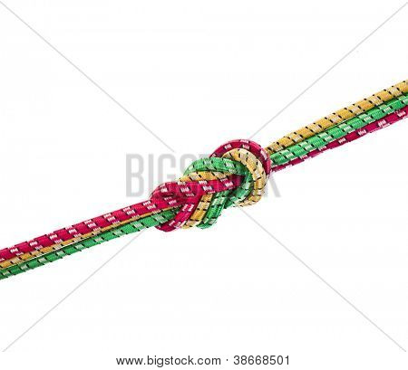 colorful string rope isolated over white