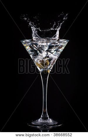 fresh coctail on the black background