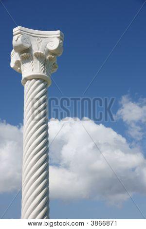 Pillar In Blue Sky