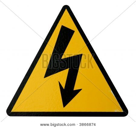 Real High Voltage Sign