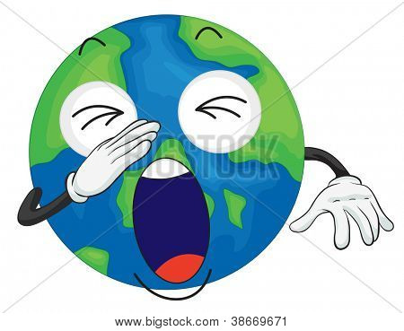 detailed illustration of planet earth on white background