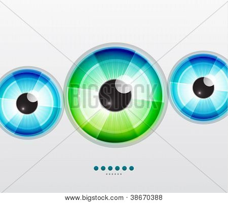 Abstract techno eye. Vector illustration