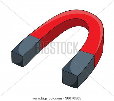 illustration of a magnet on a white background
