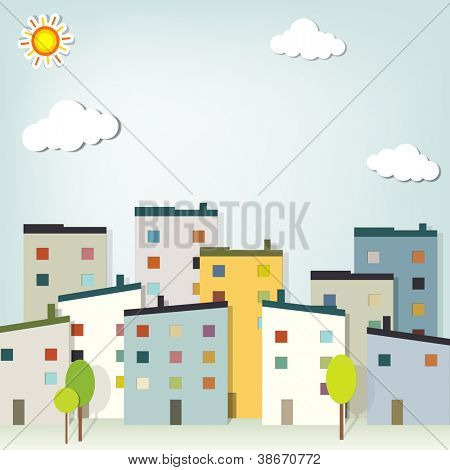 urban landscape. vector applique.