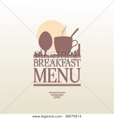 Breakfast Menu Card Design template.