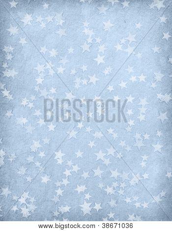 Jahrgang Papier dekoriert mit Sternen