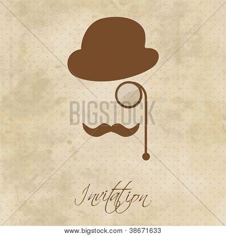 Retrato de cavalheiro vintage