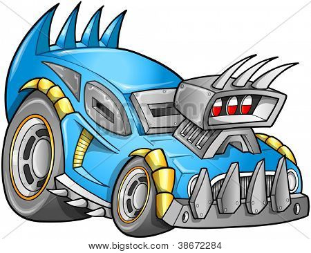 Apocalyptic Car Vehicle vector