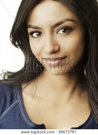 Portrait of an attractive young multi ethnic woman.