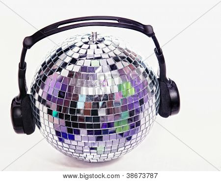 Disco ball with head phones