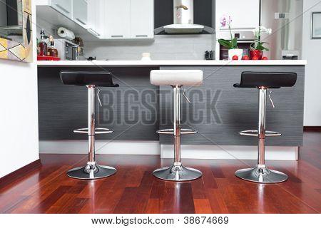 Beautiful modern kitchen in designer house